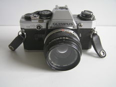 Olympus OM-10 with 4 lenses