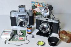 Agfa Solinette and Agfa Colorflex with accessories