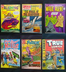 18X Vintage US Comics - Including - True Comics / The Phantom / Alarming Adventures / Superior Stories + More - 1st Print - (1947/1970)