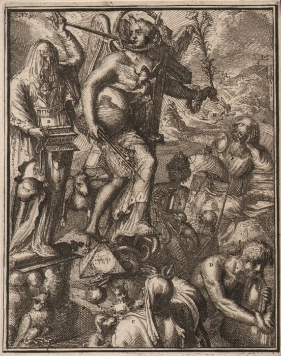 Romeyn de Hooghe (1645-1708)  -  The treats to the word of God - Ca. 1680