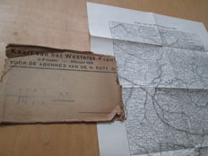 1918 Offensive. Map of the Western Front in 6 sheets. Belgium / France