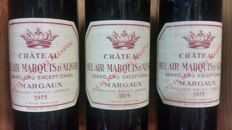 1976  Chateau Bel Air Marquis d'Aligre - Margaux -  3 Bottles