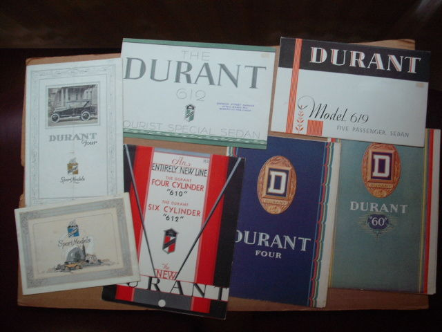 7 scarce brochures on Durant motor cars