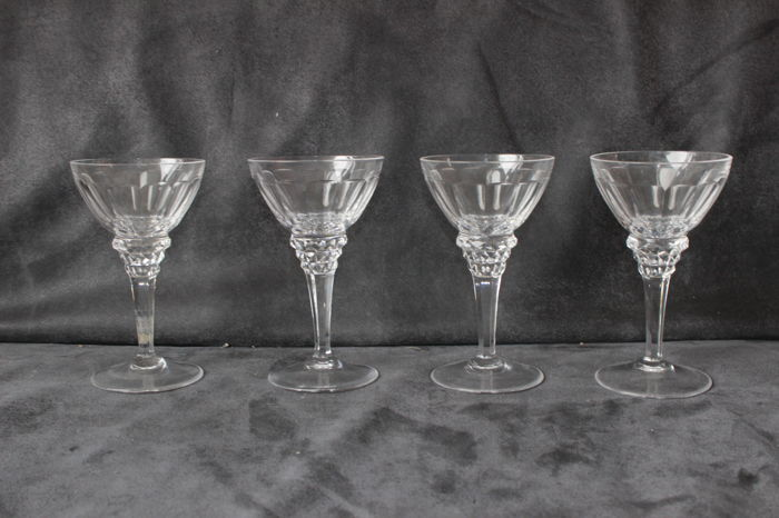 Jan Eisenloeffel (Kristalunie Maastricht) - 4x wine glasses (140 mm)