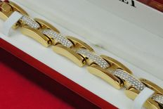 """Biffi"" Diamond Bracelet with 215 Diamonds Total +/- 6.20CT set on Stamped 750/18k Yellow Gold from Tollet Luxury Jewelers"