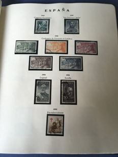 Spain 1950–1975 - Stamp collection in album.