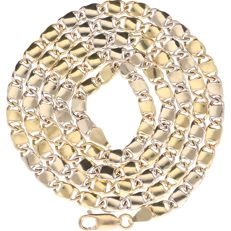18 kt - Yellow gold curb link necklace - Length: 70.5 cm