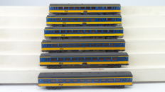 Lima H0 - 309106/309107/309310 - Set of 6 Intercity carriages type ICR of the NS