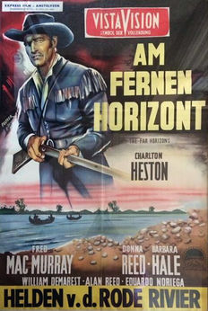 Original film poster from the film The Far Horizons with Charles Heston - 1955