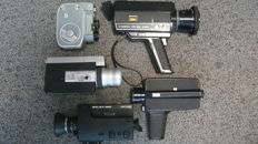 Collection of 5 Super 8 cameras