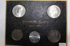 Italian Republic - Complete divisional series of 5 values 1965 with silver