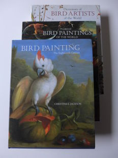 Christine E. Jackson - Bird paintings, Bird Artists of the world - 3 volumes - 1993 / 1999