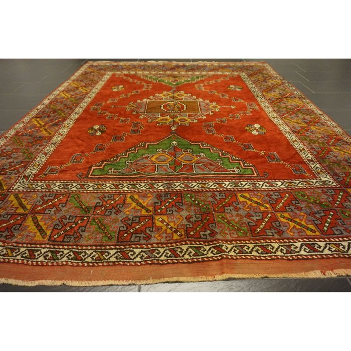Exclusive old hand-knotted Persian palace carpet Kazak Derbent Persian carpet 250x200 cm Very good condition