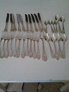 Lot of silver plated cutlery - Silver title 800