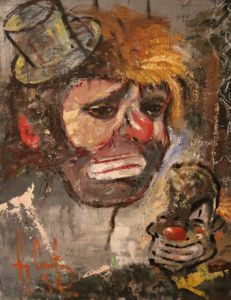 Guy Carton (1929-2012) - Portrait of a clown