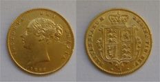 Great Britain – Gold Half Sovereign 1866 Victoria Young Head