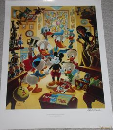 Barks, Carl - Hand-signed poster - In Uncle Walt's Collectery (ca, 1990's)