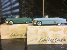 Collector's Classic - Scale 1/43 - Mercury 54 Convertible set Blue and Green