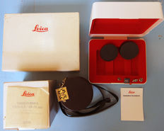 only boxes LEICA R 7 body case with box + LEITZ Vario Elmar 28-70 box+ soft leather case +LEICA neck strap+3 LEICA pins+2 cups