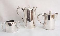 Silver Plated Small Coffee Set A1 De Montfort Plate - Early 20th Century