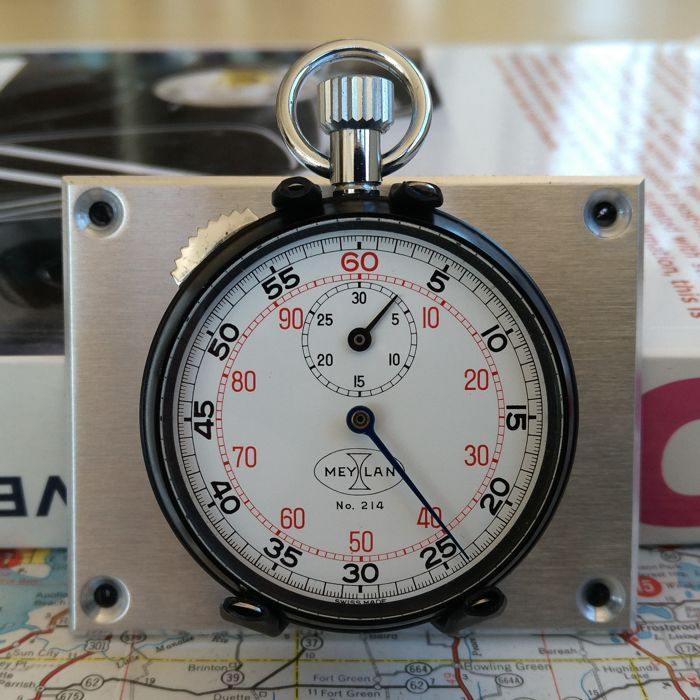 Rare 1x vintage Meylan Flyback Stopwatch Rally / Race dash mounted. 1970 - 1980.