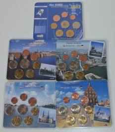 Netherlands - Year packs of euro coins, 2002 and 2005 (5 different sets)