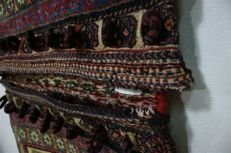 Hand-knotted original Persian carpet Oriental camel bag Sirdjan antique approx. 125 x 75 cm. good condition Iran