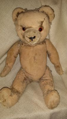 Fechter - Teddy-bear - with mechanism, sound, rare - old, antique