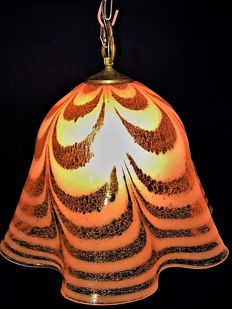 Murano for Kalmar Large Fazzoletto(handkerchief) hang lamp, Italy, 1960s