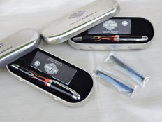 Two in one Waterman Phileas based Harley-Davidson Free Wheel Flames fountain pens - unused - a rare opportunity!