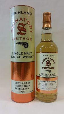 Inchmurrin 18 years old - Vintage 1996 - Limited Release of one barrel/Butt by Signatory Vintage (Bottle No. 497) - bottled in 2015