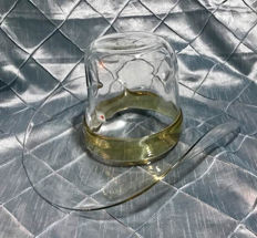 Blenko Glass Cowboy Hat Champagne / Ice Bucket
