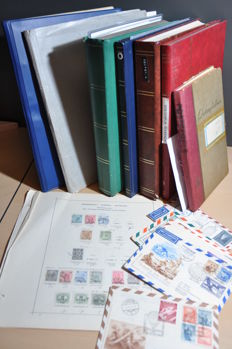 Austria - Batch from classic onwards in stock books, on sheets and more.