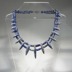 Necklace of ancient lapis lazuli spacer beads - ca 40 cm