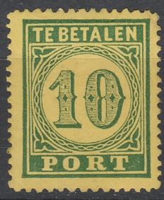 Dutch Indies 1874 - Port stamp large number of value - NVPH P2