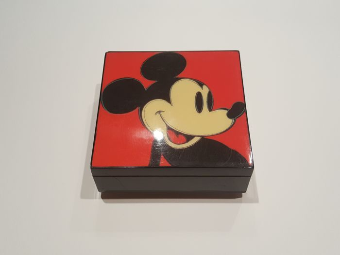 Andy Warhol Musical Jewelry Box Mickey Mouse 1981 Myth Series