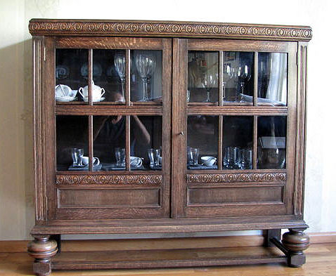 Oak Low Display Cabinet, France, 1930s