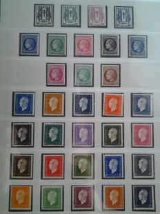 France 1945-1976 – Complete stamp collection.