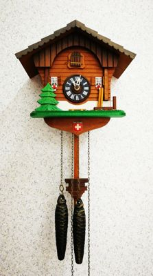 cuckoo clock with Swiss - approx. 1st half of the 20th century