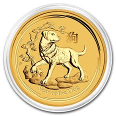 Australia - Perth Mint - 15 AUD - 1/10 oz - 999 gold coin - Lunar Year of the Dog 2018 - Year of the Dog