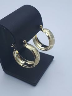 14 Ct Gold Earrings - 21 mm