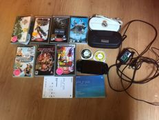 Sony, PSP - with charger, memory stick 1GB and games