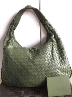 Bottega Veneta - Hobo Intrecciato Green Zappa Medium