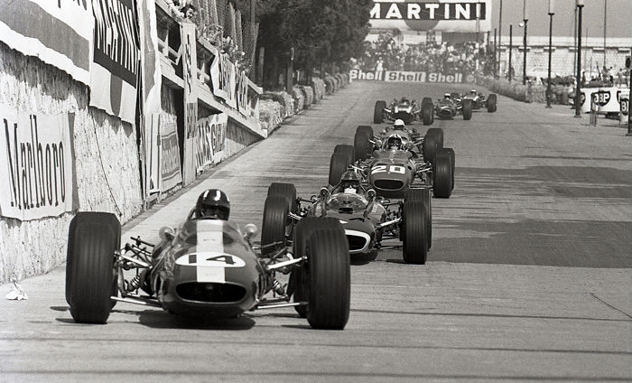 1967  Graham Hill Lotus Monaco grand Prix   Photograph 54cm x44cm