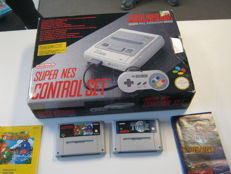 Super Nintendo boxed with 2 games Yoshi's island and Time