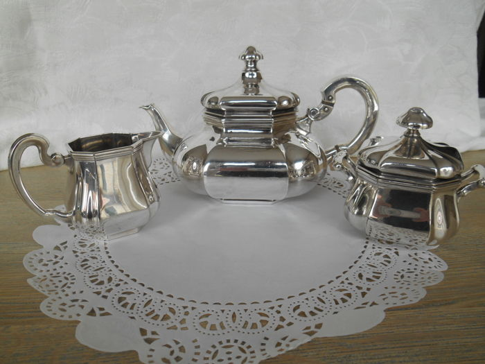 Silver plated tableware Gustav The Netherlands middle 20th century