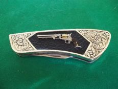 Franklin Mint Collector Knives Pocket Knife - Colt Dragoon 1851 - very good condition