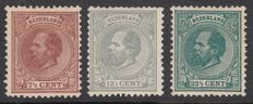 The Netherlands 1872 - King Willem III - NVPH 20, 22 and 25