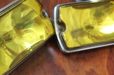 CIBIE - pair of yellow FOG LIGHTS for oldtimer