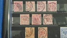 German Reich 1860/1890 - Collection on stock pages